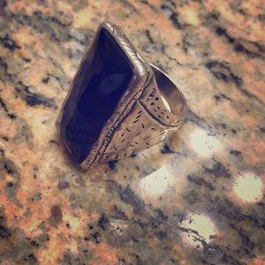 Silpada black onyx ring